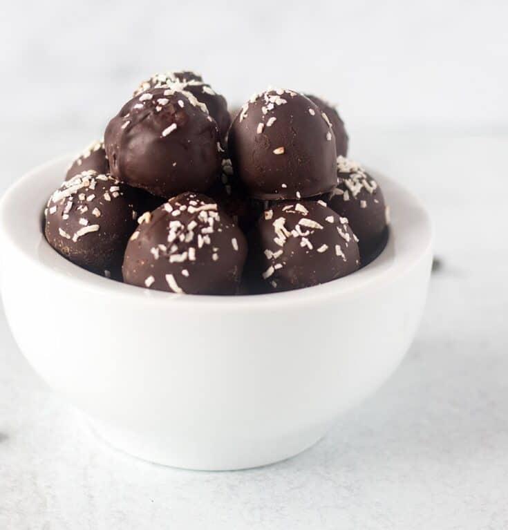 Chocolate Coconut Balls (Vegan, GF, Paleo)