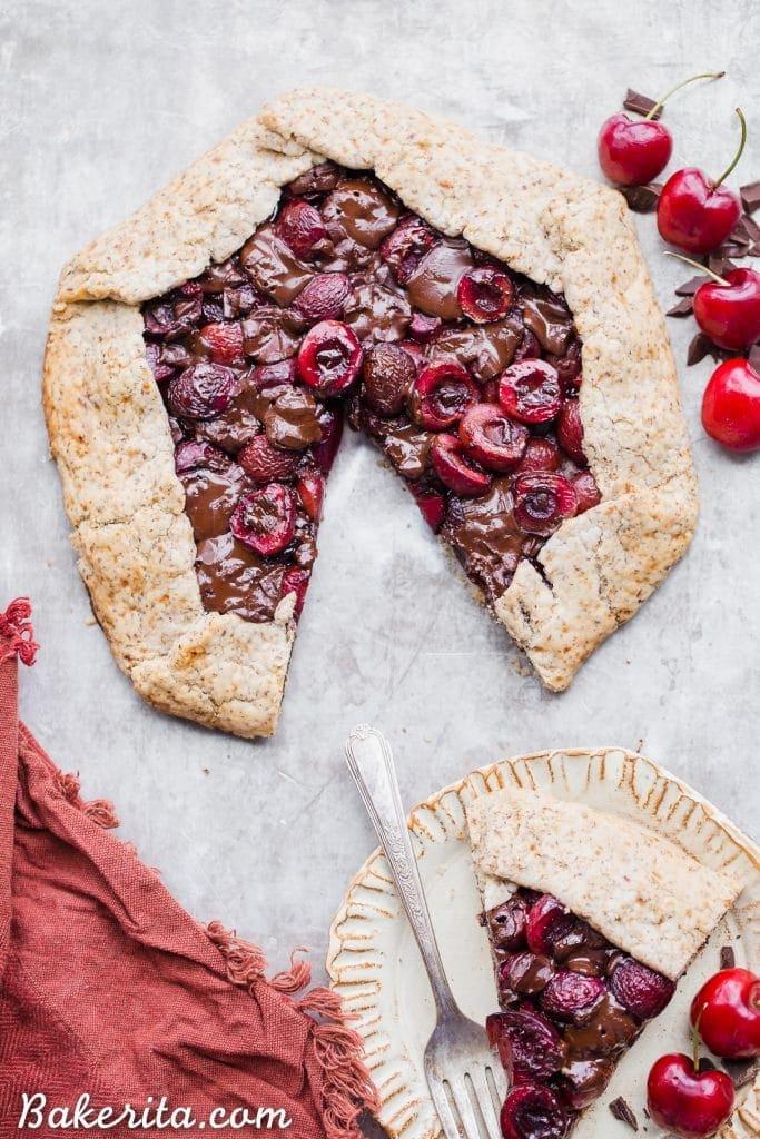 Chocolate Cherry Galette (Gluten Free, Paleo + Vegan) • Bakerita