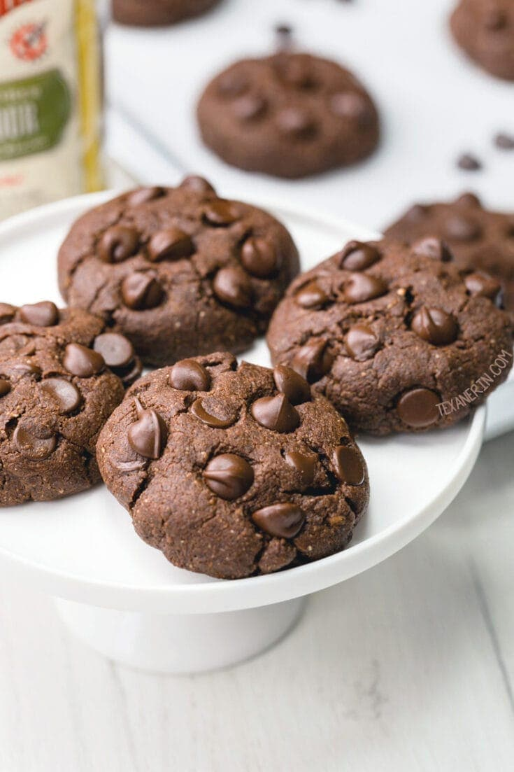 Chocolate Coconut Flour Cookies (paleo, vegan, low-carb options) - Texanerin Baking