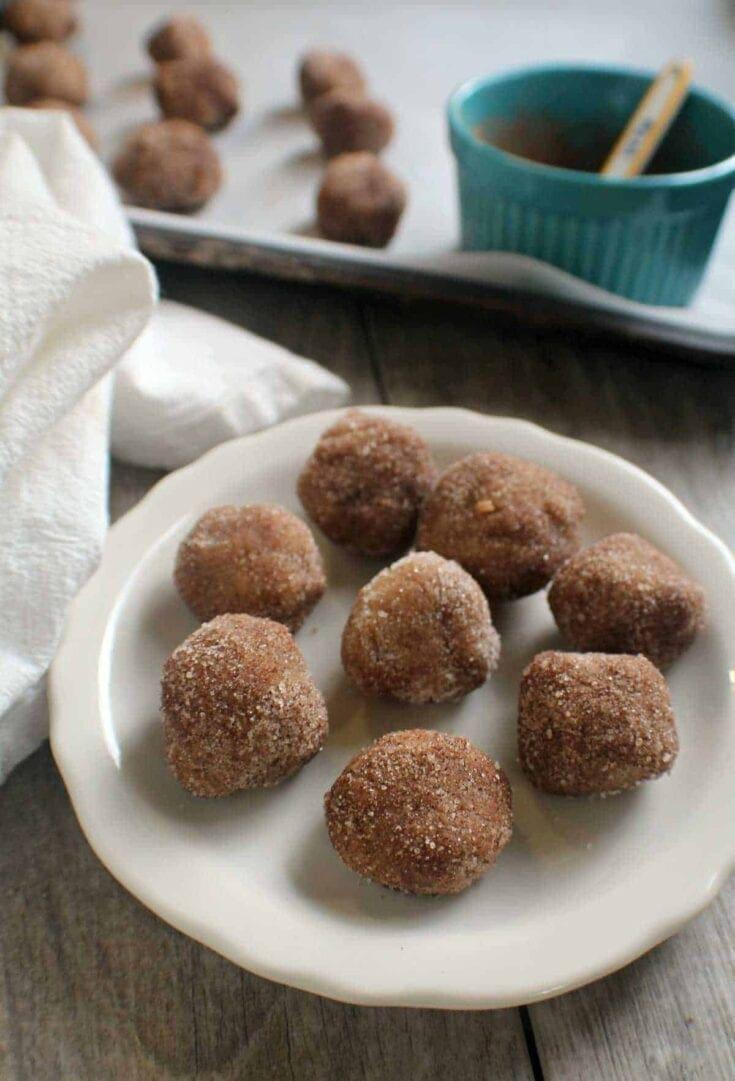 Cinnamon No-Bake Keto Donut Holes
