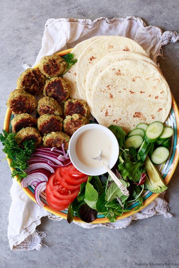 Easy Falafel Wrap Recipe with Tahini Sauce