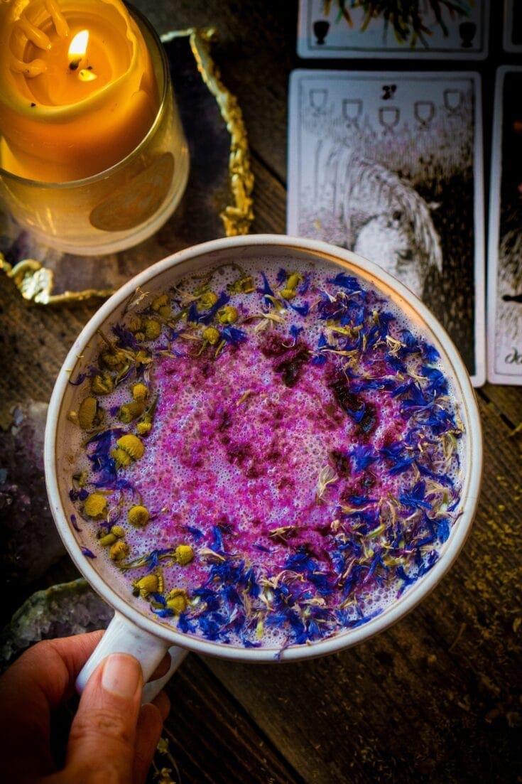 Flower Berry Moon Milk (vegan, paleo, keto, & body ecology)