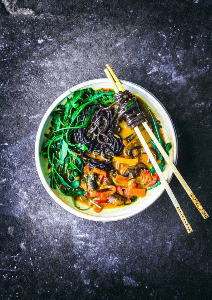 Golden Coconut Curry Noodle Bowls   Occasionally Eggs