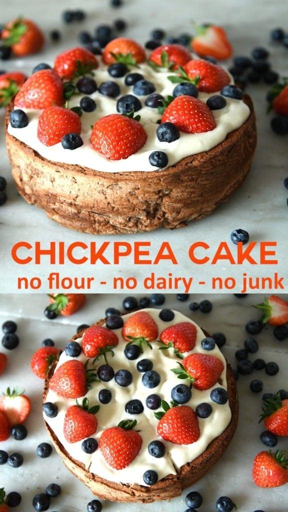 gluten free vegan chickpea cake