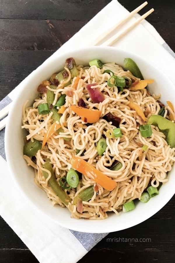Spicy Vegan Rice Noodles - Simple Sumptuous Cooking