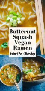 a pinterest pin image for instant pot ramen