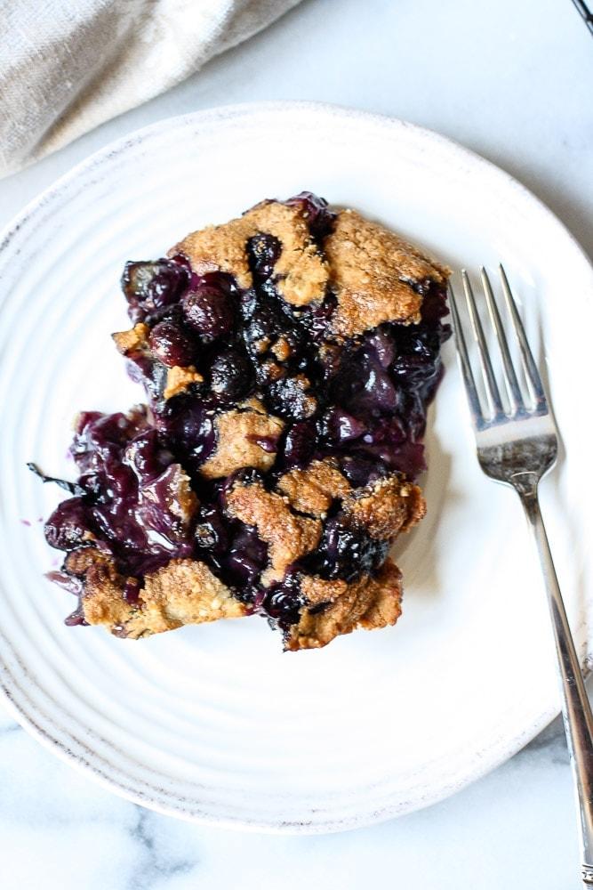 paleo blueberry cobbler vertical plate 3584