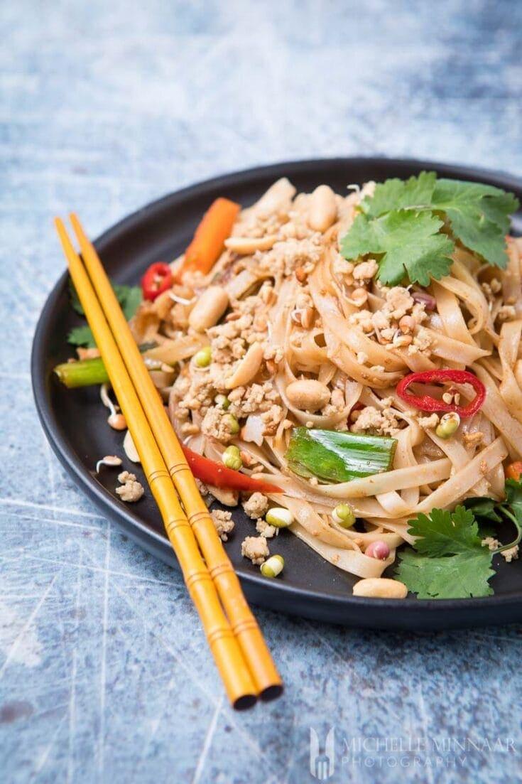 Vegan Pad Thai - eggless no fish sauce vegan original pad Thai noodles