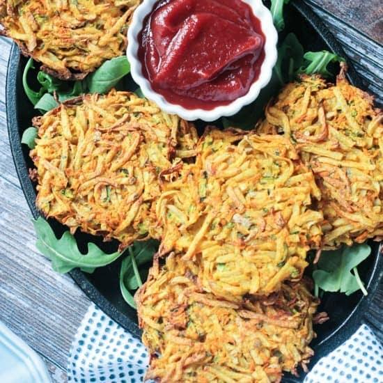 Veggie Potato Fritters (Baked, Not Fried!)