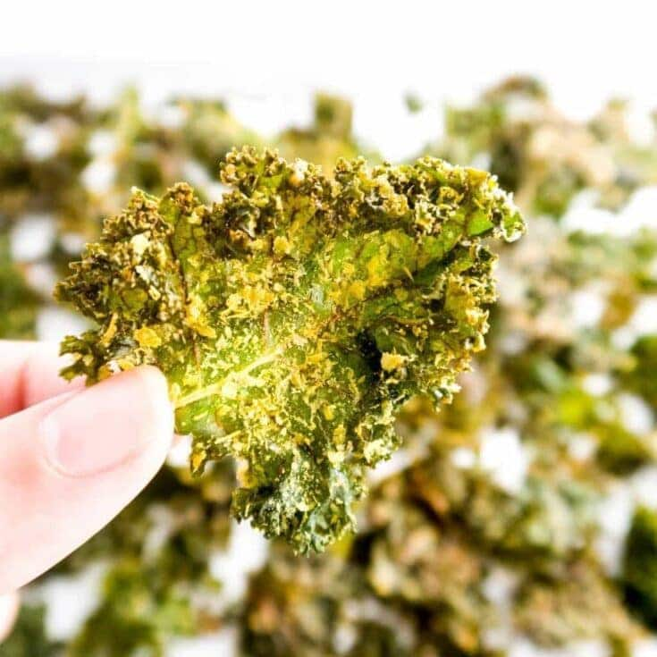 5-Ingredient Salt and Vinegar Kale Chips (Paleo, Low Carb)