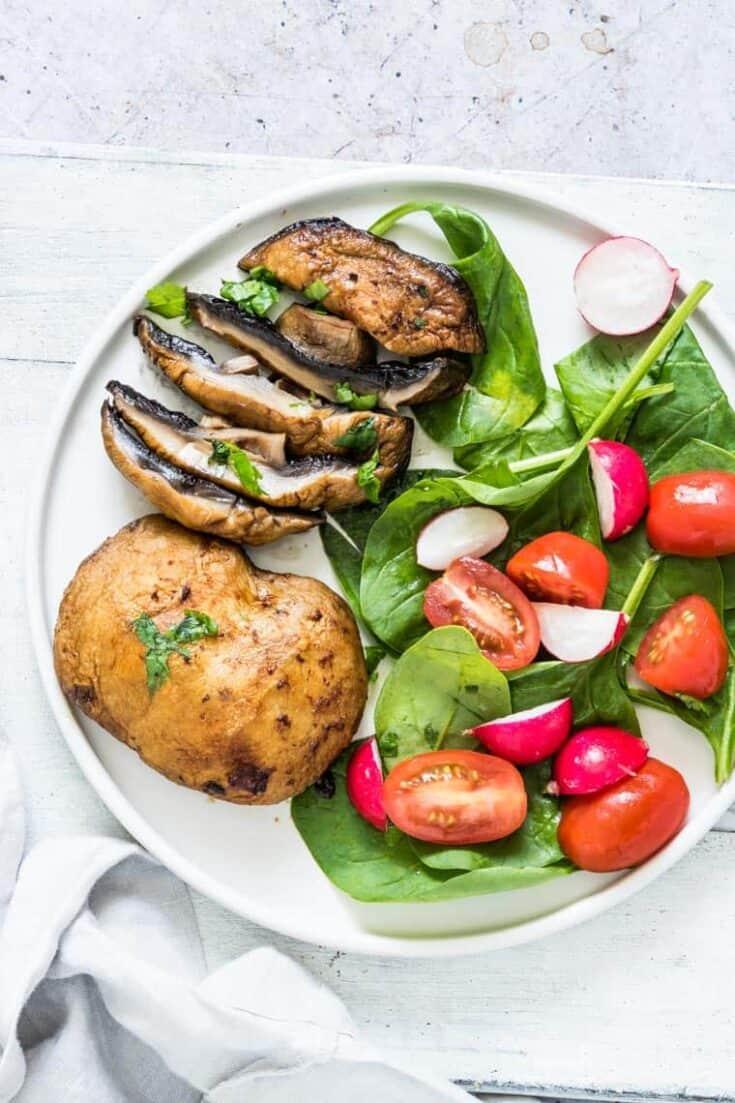 Air Fryer Mushrooms Steaks