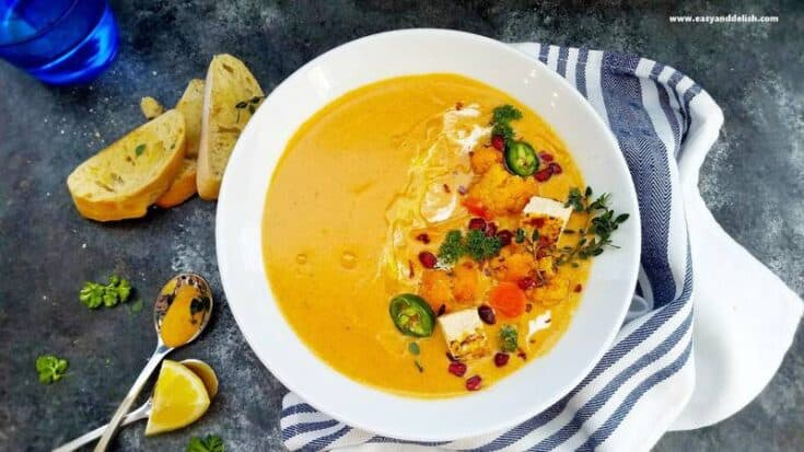 Low Carb Cauliflower Curry Soup