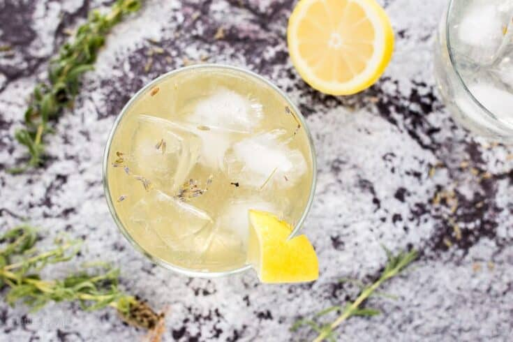 Lavender Lemon Sparkler Cocktail