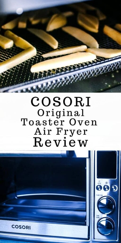 a pinterest pin image for cosori airy fryer review