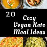 a pinterest pin image for vegan keto meals