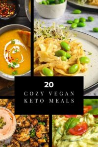 a pinterest pin image for vegan keto meals