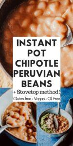 a pinterest pin for peruvian beans recipe