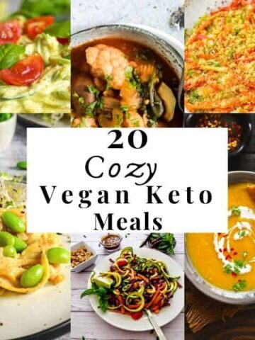 a pinterest pin image for vegan keto meal ideas