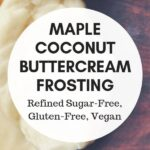 a pinterest pin image for vegan buttercream frosting