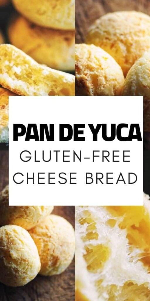 a pinterest pin image for pan de yuca