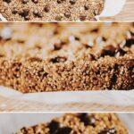 a pinterest pin for quinoa granola bars