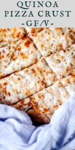 pinterest pin image for quinoa pizza