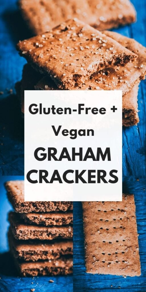 a pinterest pin image for gluten free graham crackers recipe