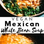 a pinterest pin image for instant pot white beans