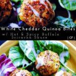 a pinterest pin image for quinoa bites
