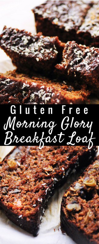 a pinterest pin for morning glory bread