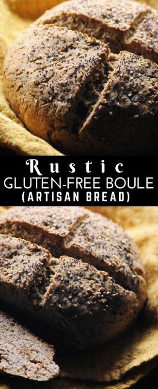 a pinterest pin for gluten free artisan bread