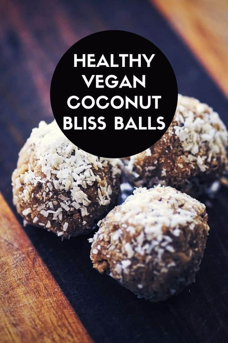 Easy, healthy and delicious Coconut Bliss Balls made from coconut and sunflower seeds. The perfect gluten-free and vegan energy boosting snack!