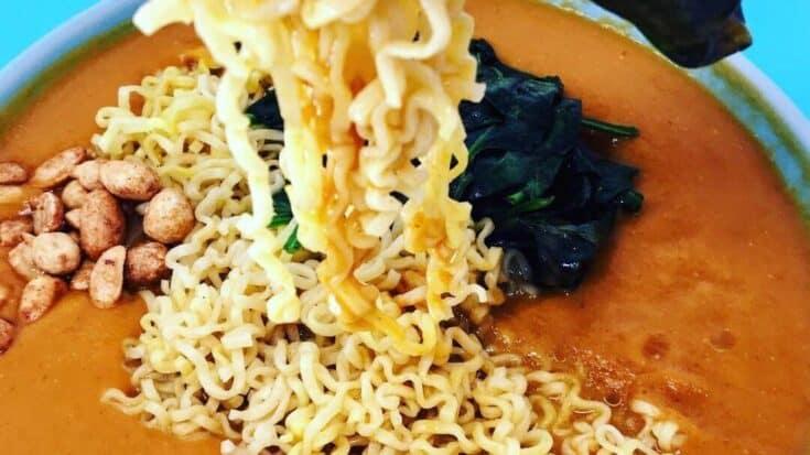 Vegan Creamy Tomato Ramen Soup