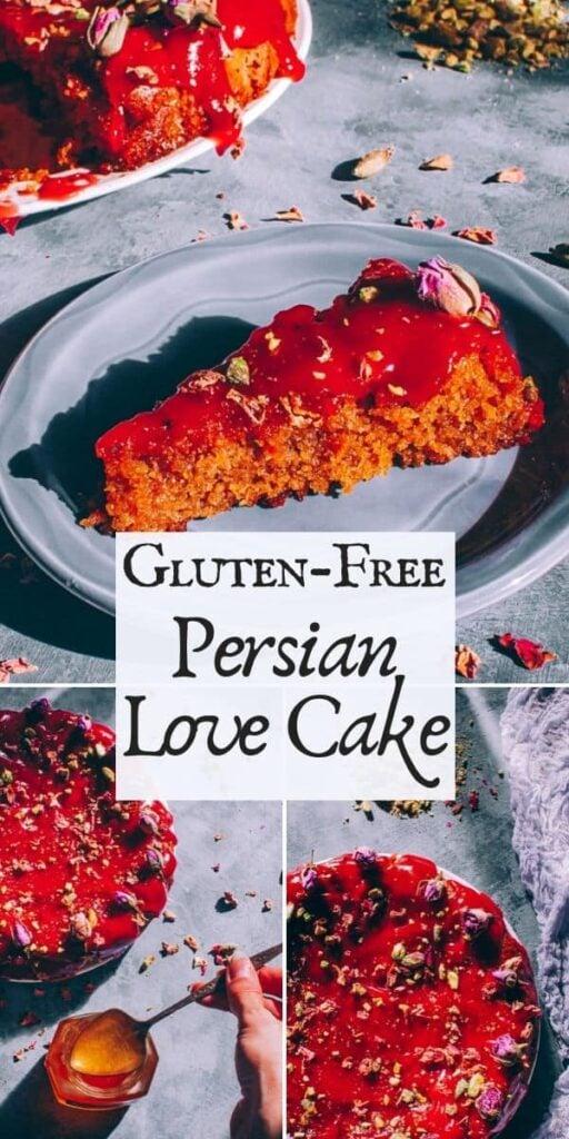 gluten free persian love cake valentines day saffron rose cardamom 6