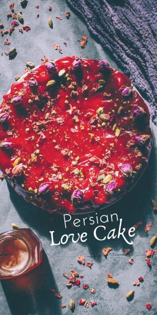 gluten free persian love cake valentines day saffron rose cardamom 7