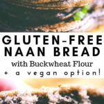 a pinterest pin for gluten free naan