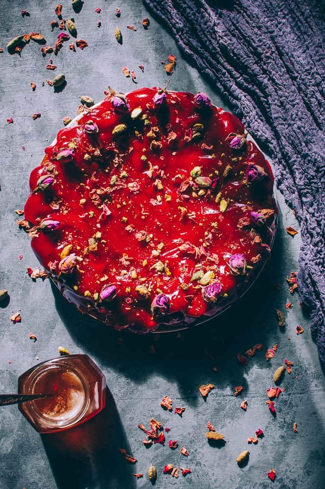 flatlay persian love cake