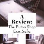 a pinterest pin image for the futon shop eco sofa