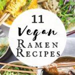 a pinterest pin image for vegan gluten free ramen recipes