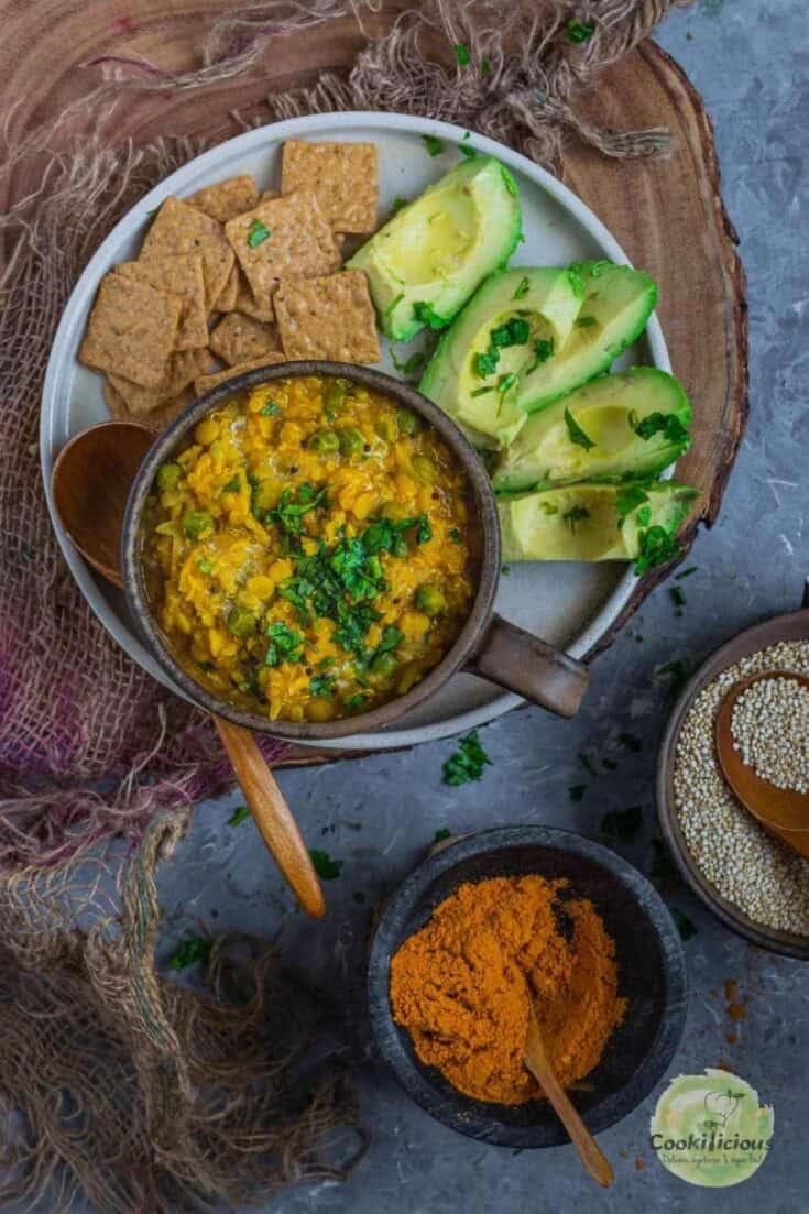 Instant Pot Quinoa Lentil Cabbage Roll Soup