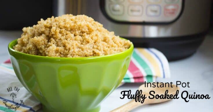 Fluffy Soaked Quinoa In The Instant Pot