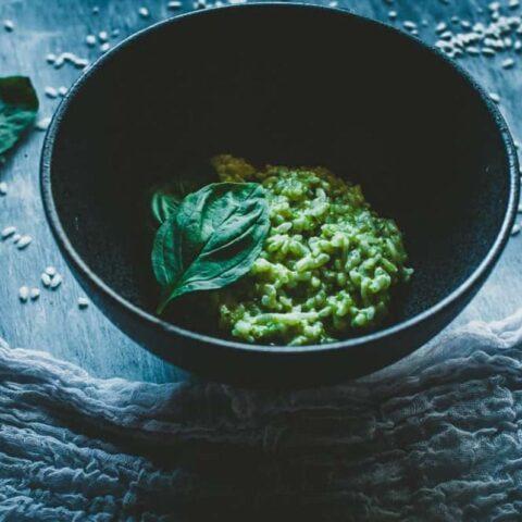 Pesto Risotto (Vegan)