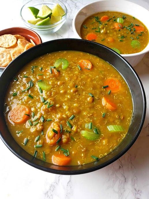 Lentil Quinoa Soup - Instant Pot