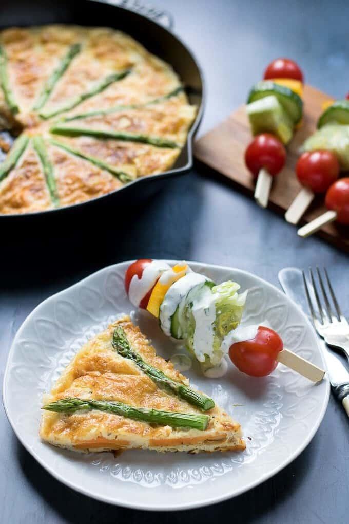Sweet Potato Frittata with Asparagus
