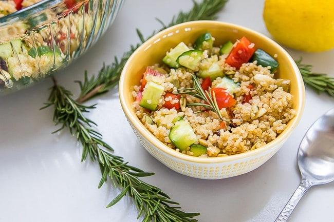 Instant Pot Lemon Quinoa Vegetable Salad