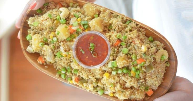 Instant Pot Quinoa Fried Rice Recipe (Vegan)