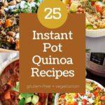a pinterest pin image for instant pot quinoa