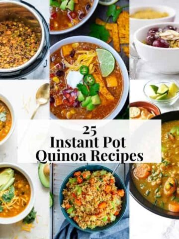 pinterest square image grid for instant pot quinoa
