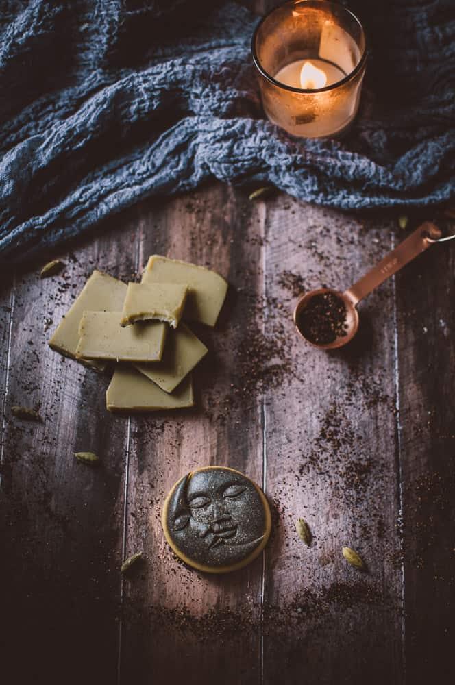 flatlay wooden backdrop mountain rose herbs recipe