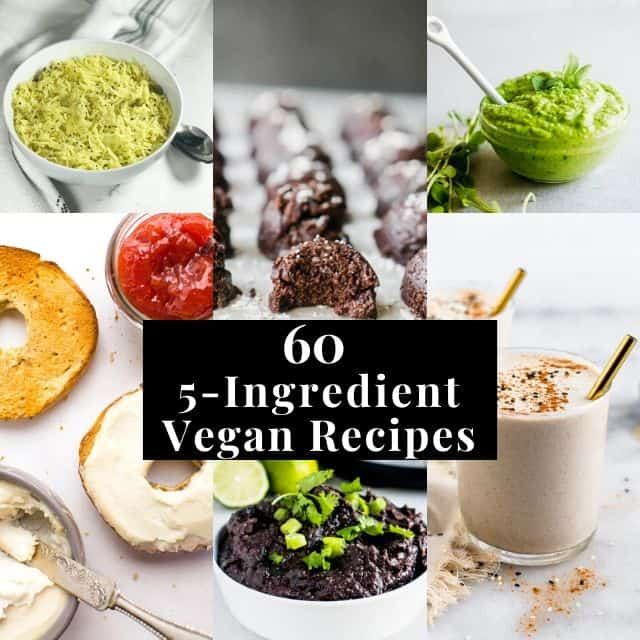 six image grid of 5 ingredient recipes
